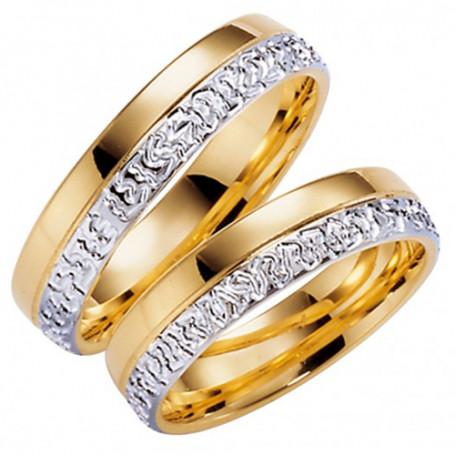 14K275-5 R/V Förlovningsring Vigselring  14K275-5  R/V Schalins Schalins ringar 4,242.00