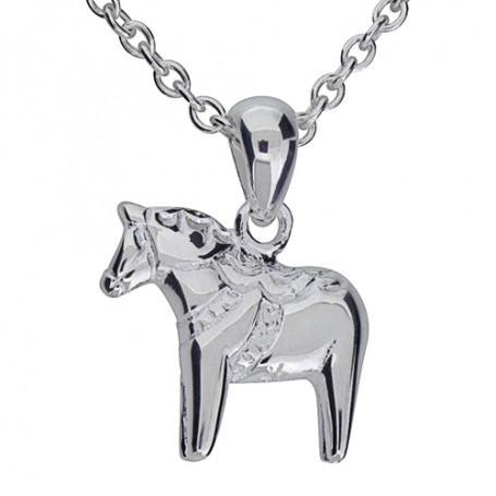 Dalahäst med kurbits äkta silver med kedja SID1K Dalecarlia of Sweden Halsband 36cm till 50cm 349,00kr