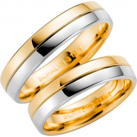 14K258-4 R/V Förlovningsring Vigselring  14K258-4  R/V Schalins Schalins ringar 3,288.00