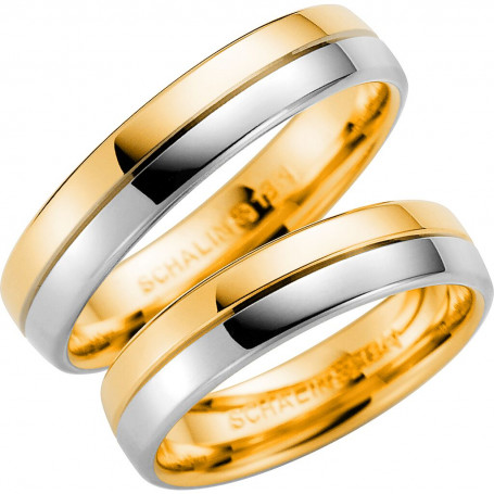 14K258-5 R/V Förlovningsring Vigselring  14K258-5  R/V Schalins Schalins ringar 4,335.00