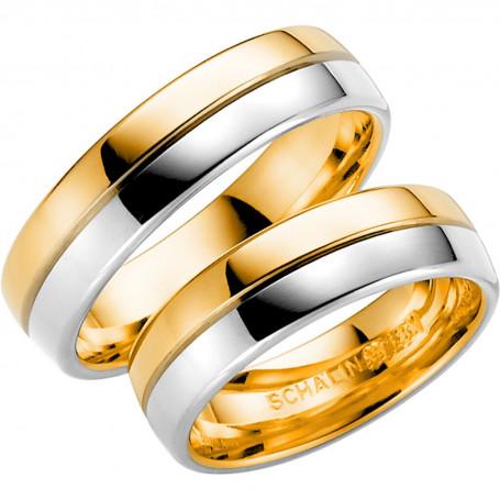 14K258-6 R/V Förlovningsring Vigselring  14K258-6  R/V Schalins Schalins ringar 5,582.00