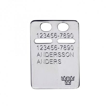 ID-bricka silver med gravyr 1-11-0043-1  Namnsmycken och gravyrsmycken 259,00kr