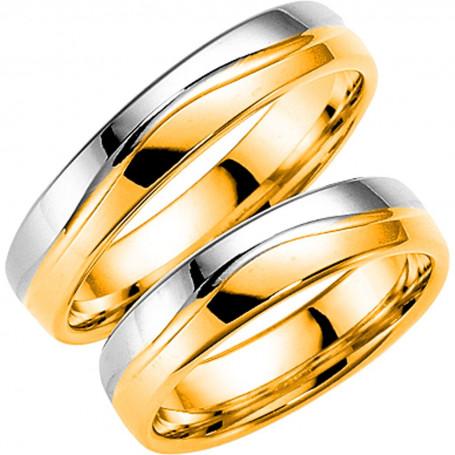 14K289-5 R/V Förlovningsring Vigselring  14K289-5  R/V Schalins Schalins ringar 4,341.00