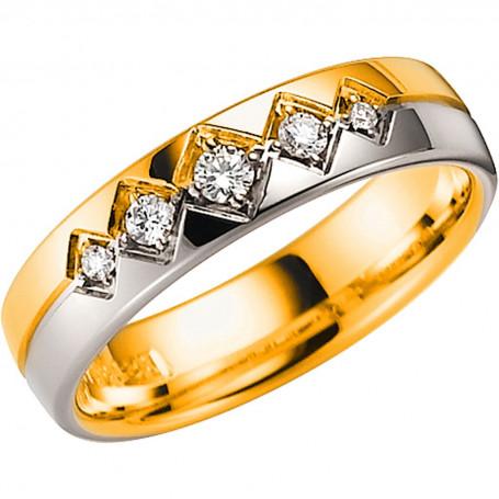 14K LUGANO R/V Förlovningsring Vigselring 14K LUGANO  R/V Schalins Schalins ringar 7,698.00