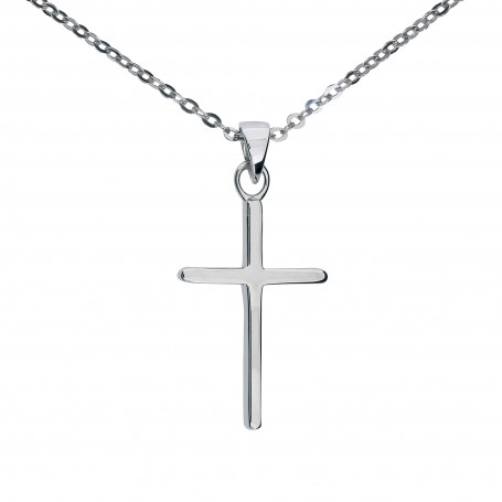 Halsband med kors 1-10-0273  Halsband 36cm till 50cm 450,00kr