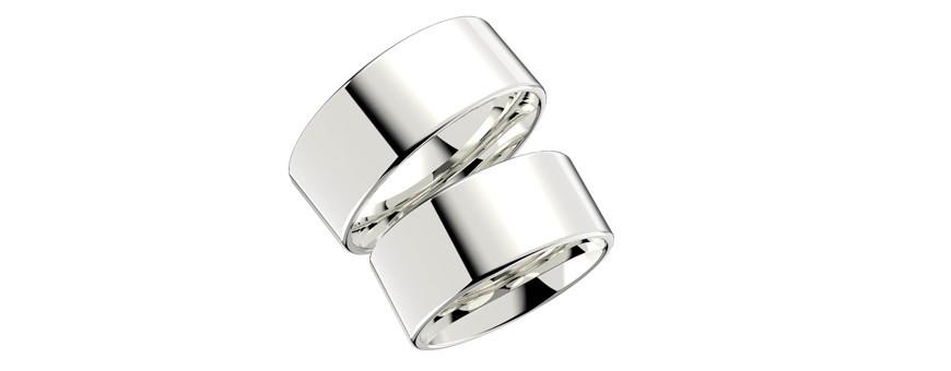 Släta silverringar Schalins ringar | Dala Guldsmide.