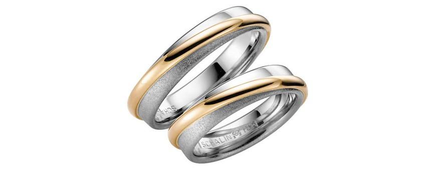 Flerfärgade och tvåfärgade ringar