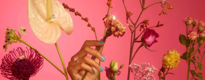 Alliansring - diamantring som förlovningsring eller vigselring