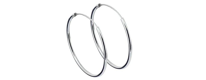 Små och stora ringar, örhängen i äkta silver
