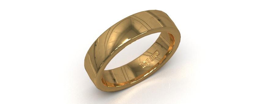 Guldringar för dam och herr i 18 karat guld