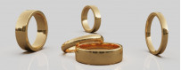 Släta guldringar från Dalecarlia Love Collection