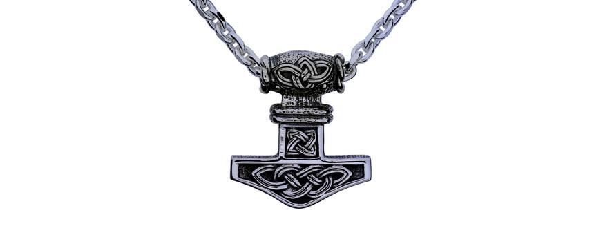 Halsband till man, kille och herr i äkta silver, stål eller läder.