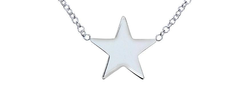 Halsband med stjärna och stjärnor | Dala Guldsmide