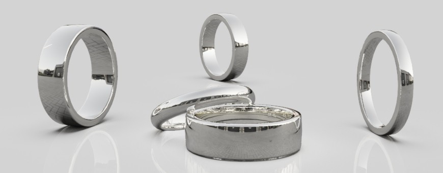 Släta silverringar design Dalecarlia Love Collection