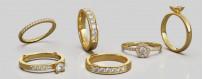 Diamantringar i guld från Dalecarlia Love Collection | Dala Guldsmide