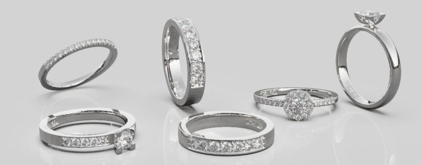 Diamantringar - briljantring i vitguld