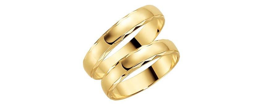 Mönstrade ringar 18 karat guld | Dala Guldsmide