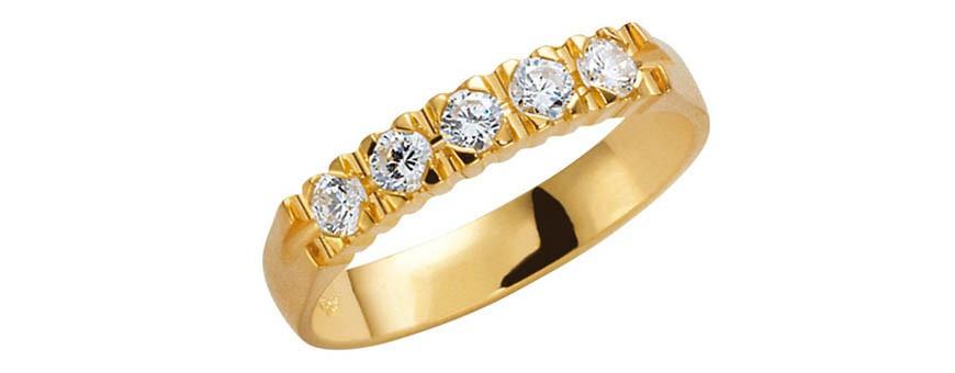 Guldringar med diamanter 18 karat guld | Dala Guldsmide