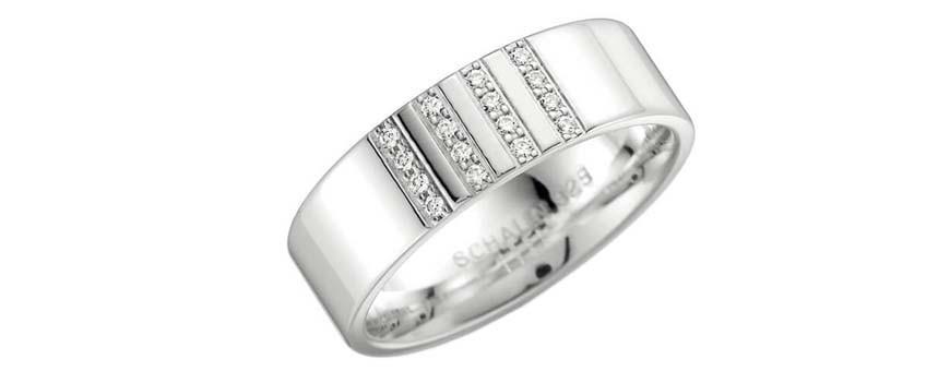 Silverringar med diamanter
