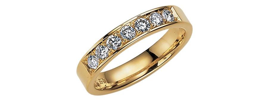 Guldringar med diamanter, diamantringar och briljantringar