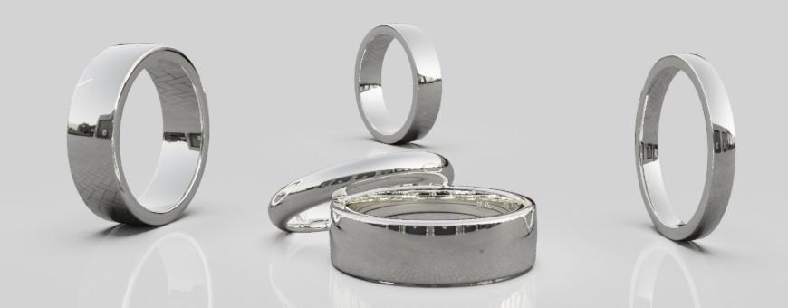 Släta ringar silver
