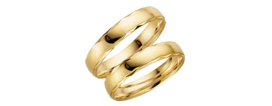 Mönstrade ringar i 14 karat guld | Dala Guldsmide