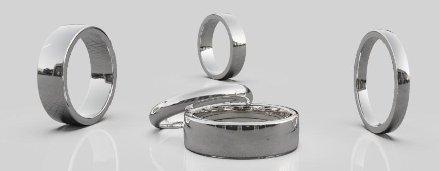 Släta ringar i 14 karat vitguld från Dalecarlia Love Collection | Dala Guldsmide