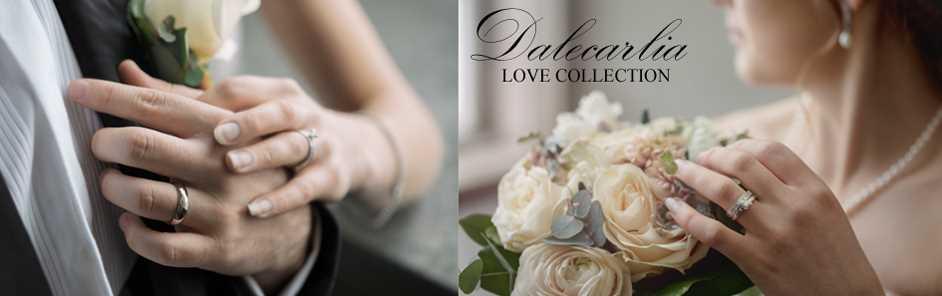 Förlovningsringar och vigselringar från egen ateljé